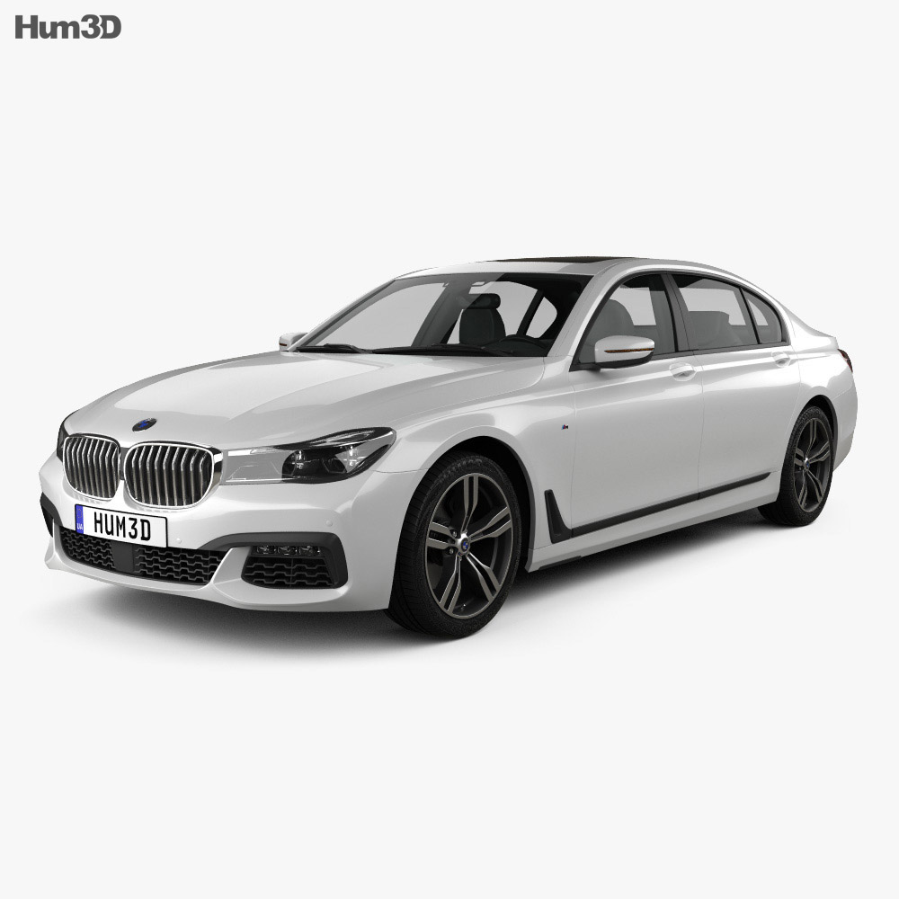 bmw 7 series g12 l m sport package 2015 3d model hum3d. Black Bedroom Furniture Sets. Home Design Ideas
