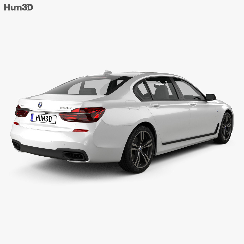 BMW 7 Series (G12) L M Sport Package 2015 3d model