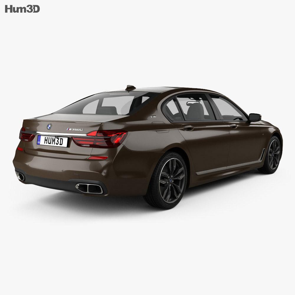 BMW M7 (G12) 2017 3d model