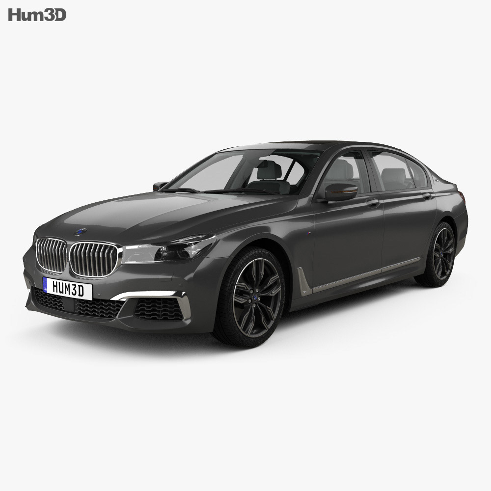 Bmw M7 G12 With Hq Interior 2017 3d Model Vehicles On Hum3d