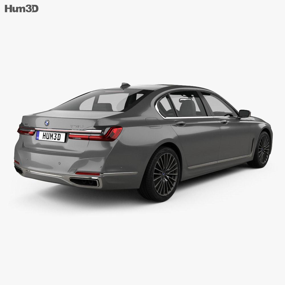 Bmw 7 Series: BMW 7-series L 2019 3D Model