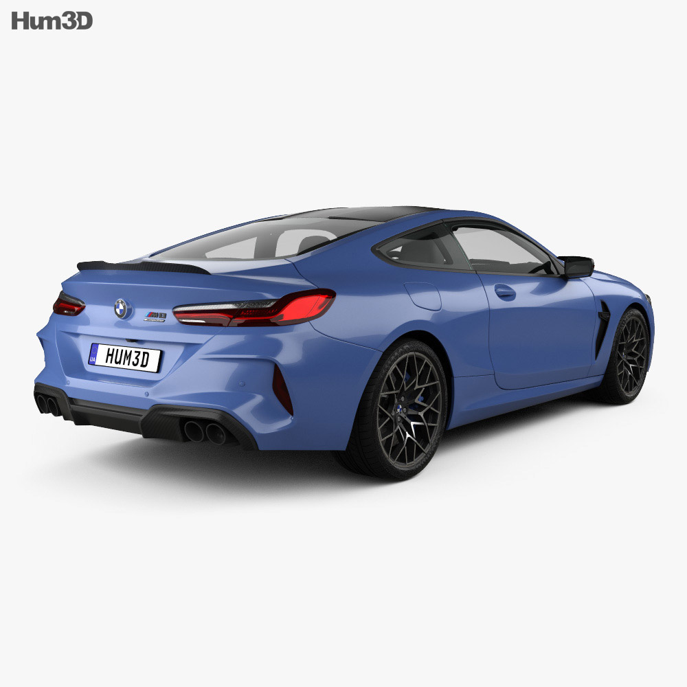 BMW 8 Series (F92) M8 Competition coupe 2019 3d model