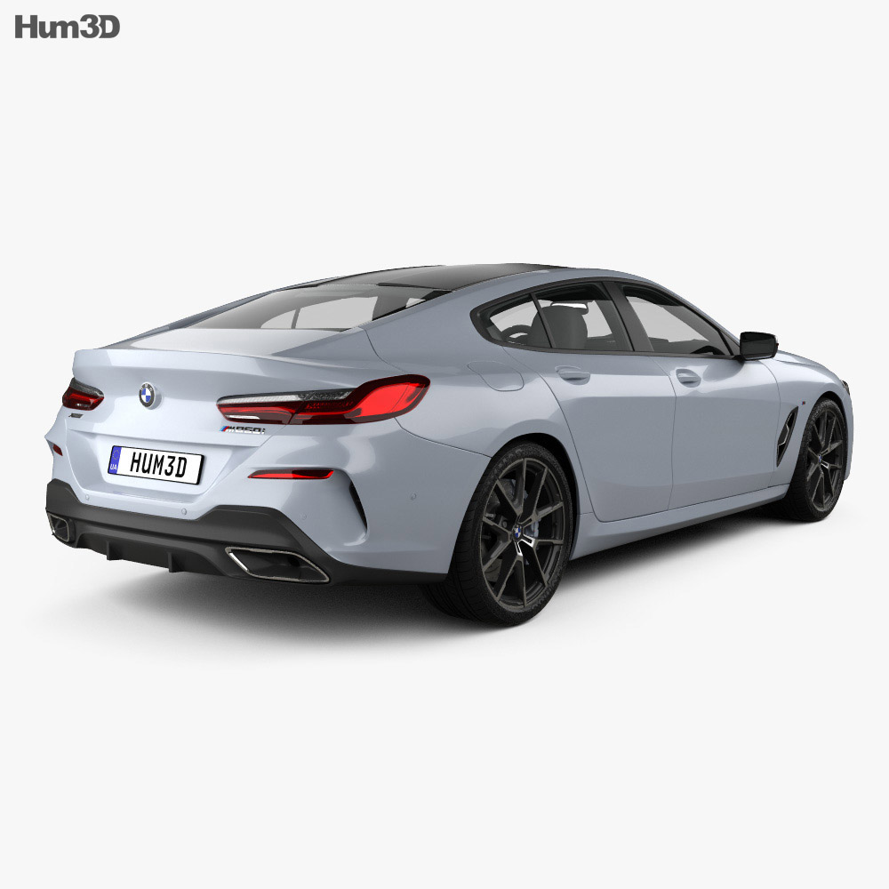 BMW 8 Series (G16) GranCoupe M-sport 2019 3d model