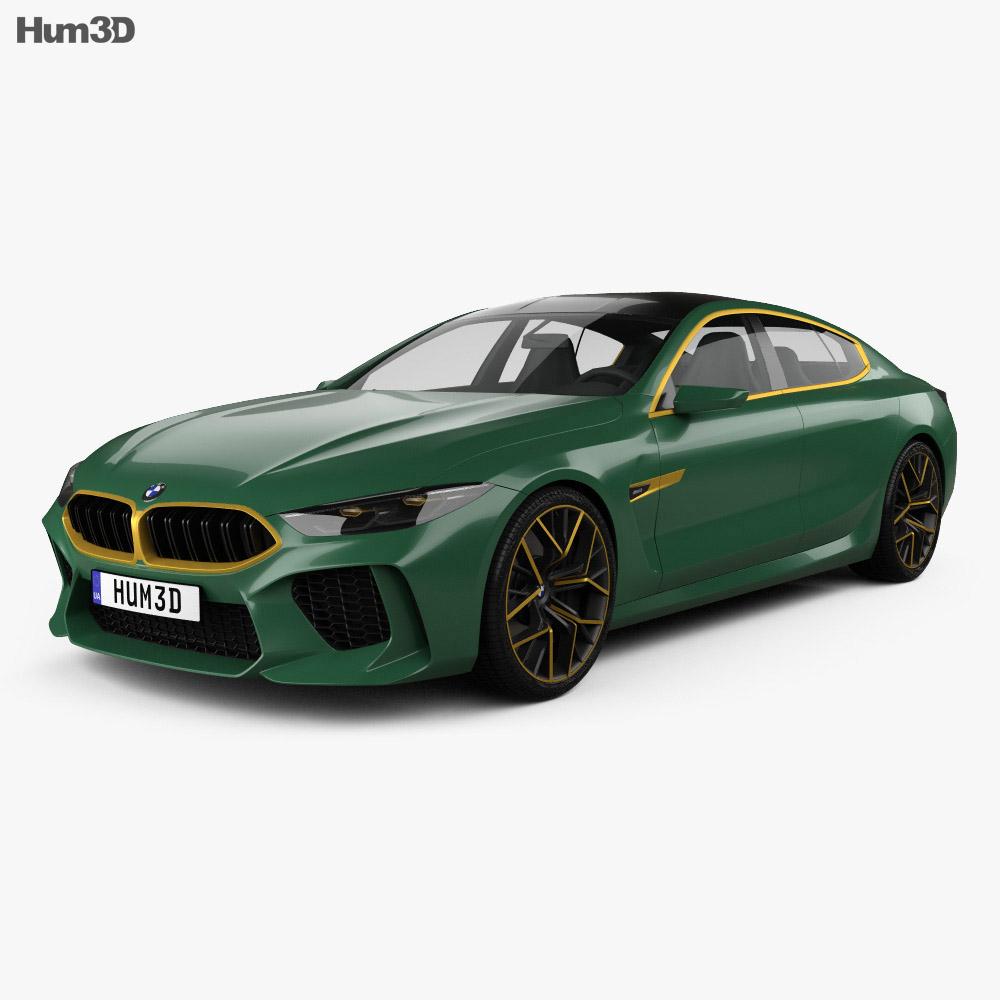 bmw m8 gran coupe 2018 3d model vehicles on hum3d. Black Bedroom Furniture Sets. Home Design Ideas