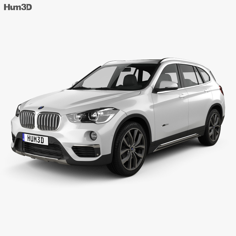 bmw x1 f48 2015 3d model vehicles on hum3d. Black Bedroom Furniture Sets. Home Design Ideas