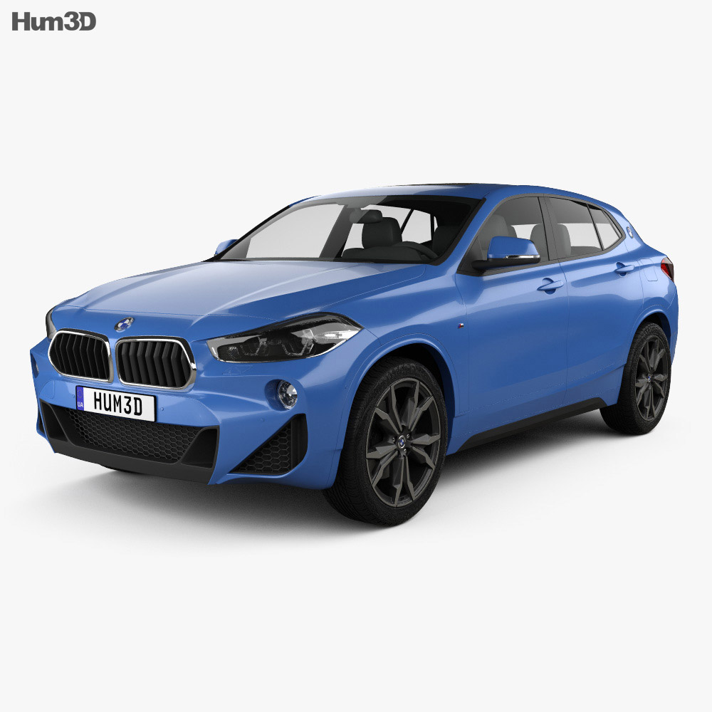 bmw x2 m sport 2018 3d model hum3d. Black Bedroom Furniture Sets. Home Design Ideas