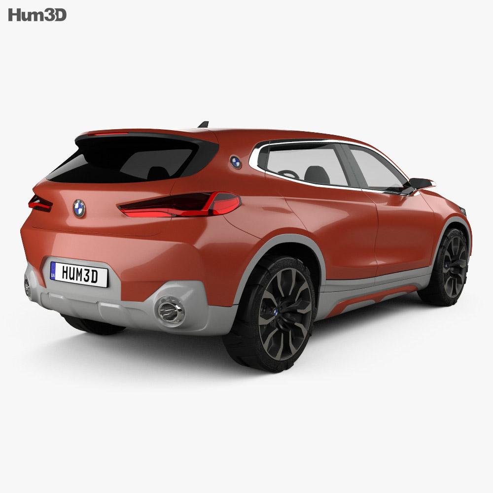 BMW X2 concept 2016 3d model