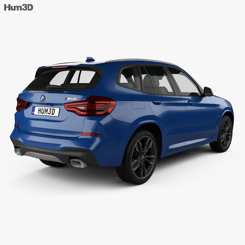 BMW X3 M (G01) 2018 3d model