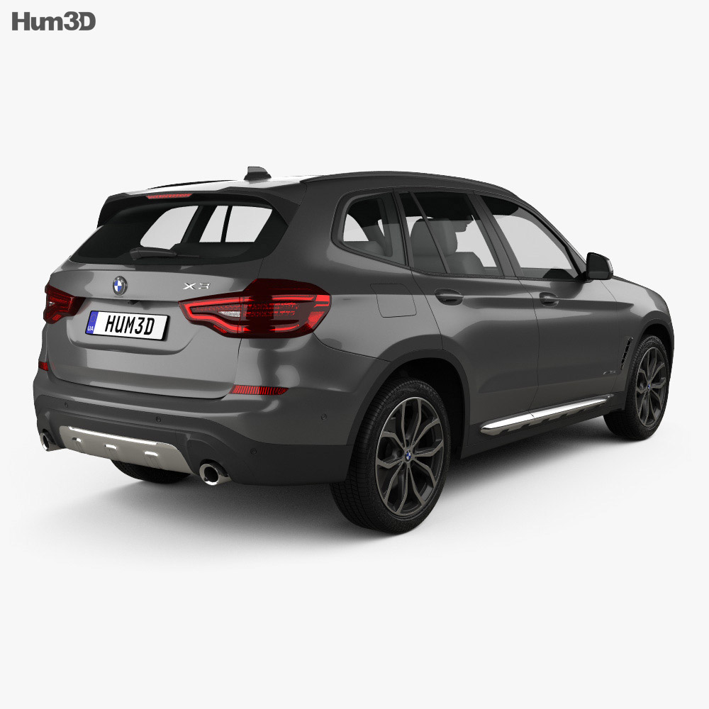 bmw x3 g01 xline 2018 3d model hum3d. Black Bedroom Furniture Sets. Home Design Ideas