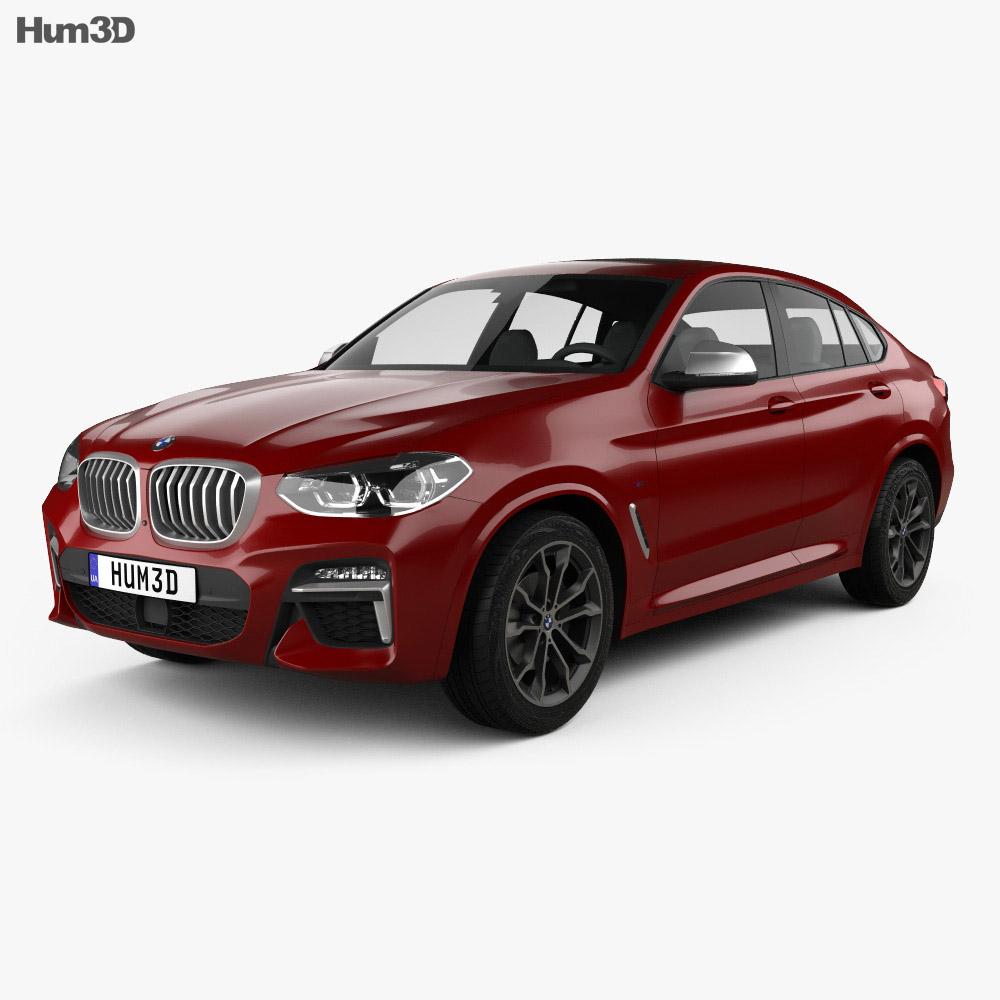 bmw x4 m sport g02 2019 3d model vehicles on hum3d. Black Bedroom Furniture Sets. Home Design Ideas