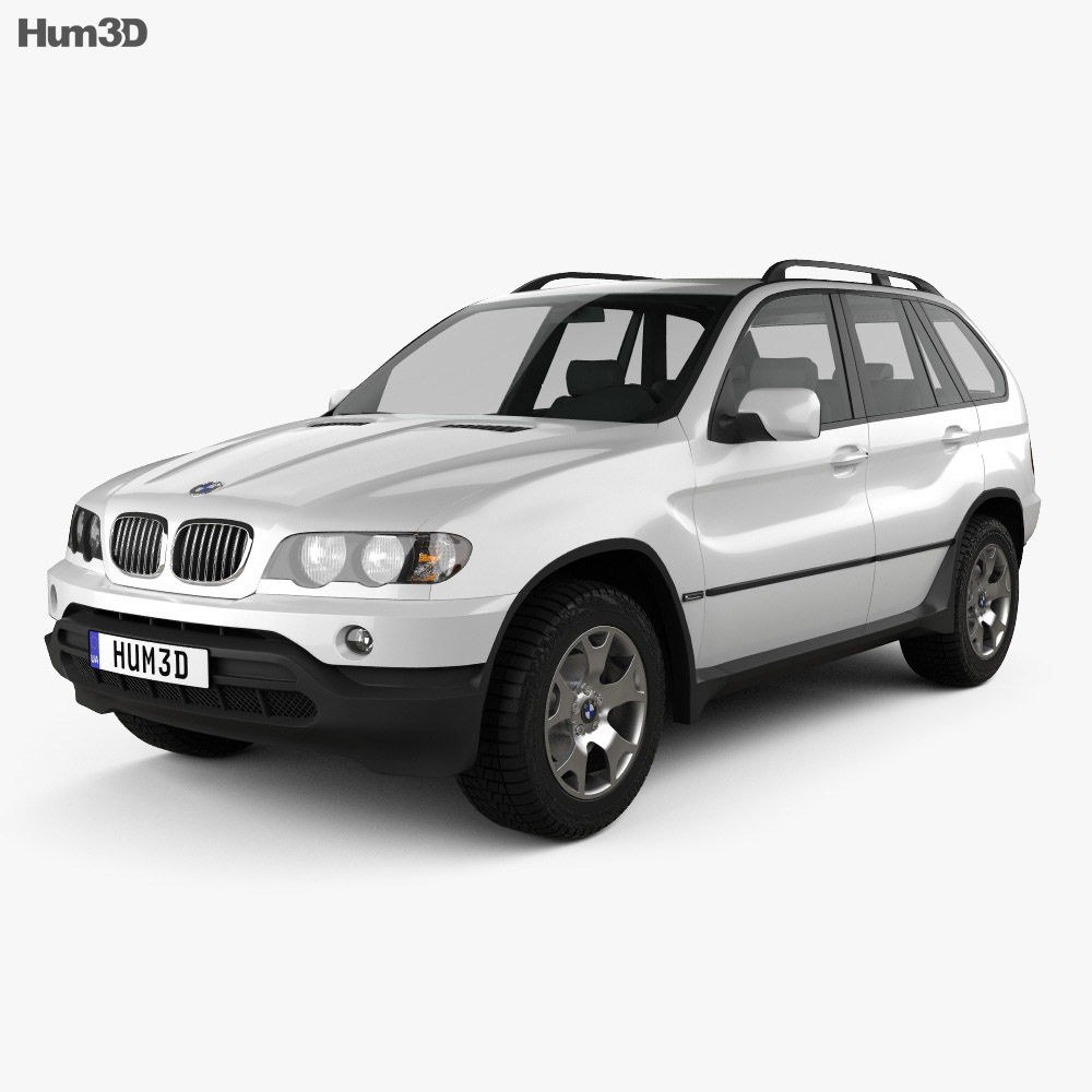 BMW X5 (E53) 2000 3d model