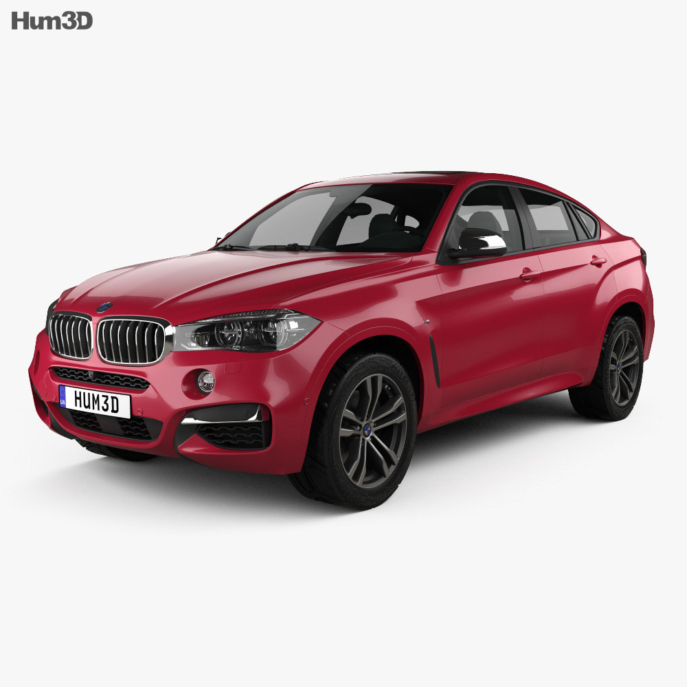 bmw x6 f16 m sport package 2014 3d model vehicles on hum3d. Black Bedroom Furniture Sets. Home Design Ideas