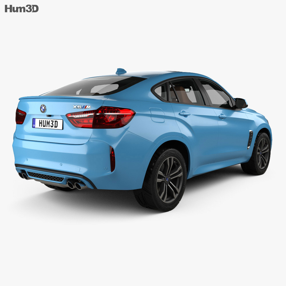 BMW X6 M with HQ interior 2015 3d model