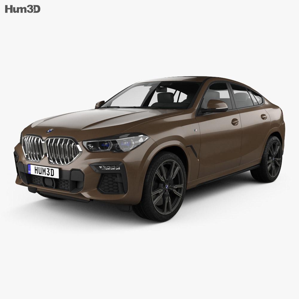 BMW X6 M-sport 2020 3d model