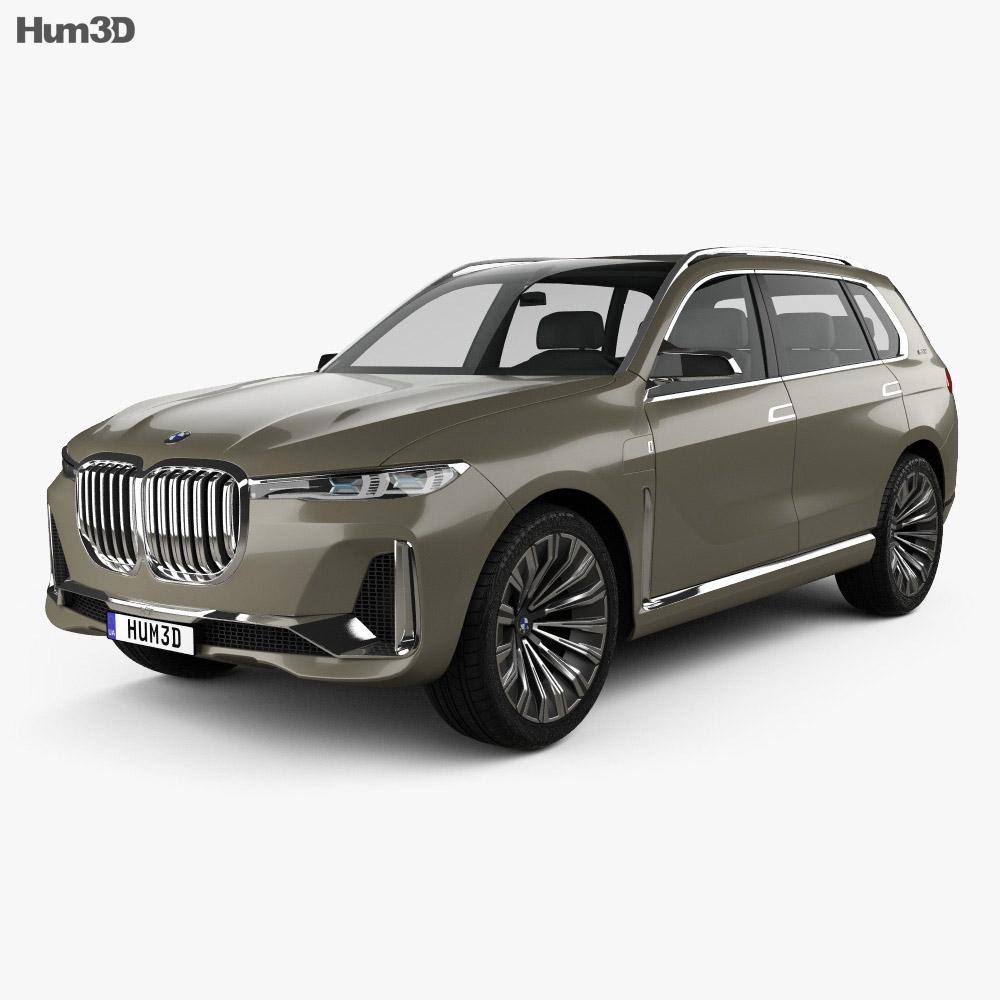 BMW X7 concept 2017 3d model