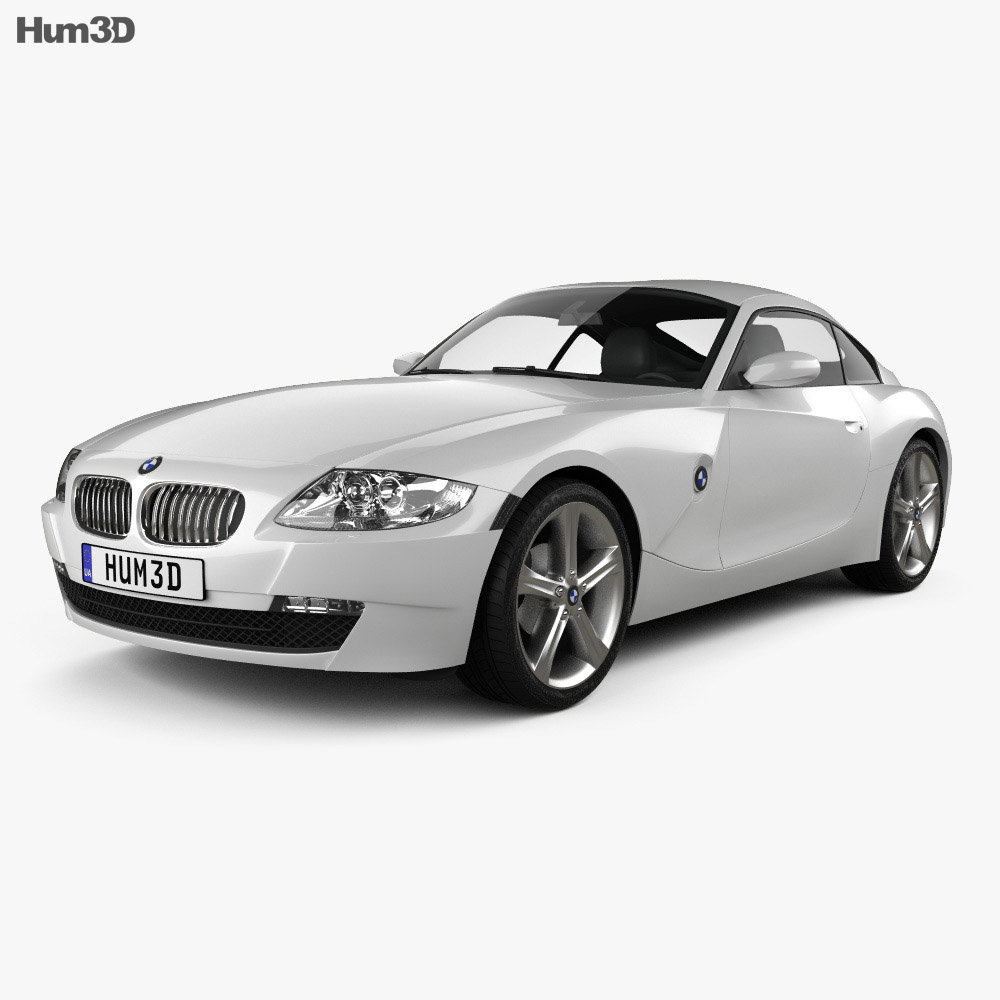 Bmw Z4 E85: BMW Z4 (E85) Coupe 2002 3D Model