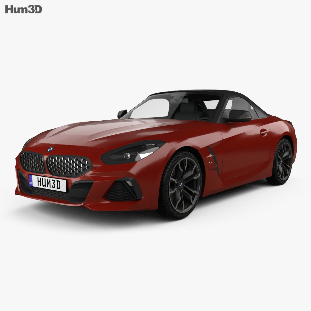 Bmw Z4 Convertible Black: BMW Z4 M40i (G29) First Edition Roadster 2019 3D Model