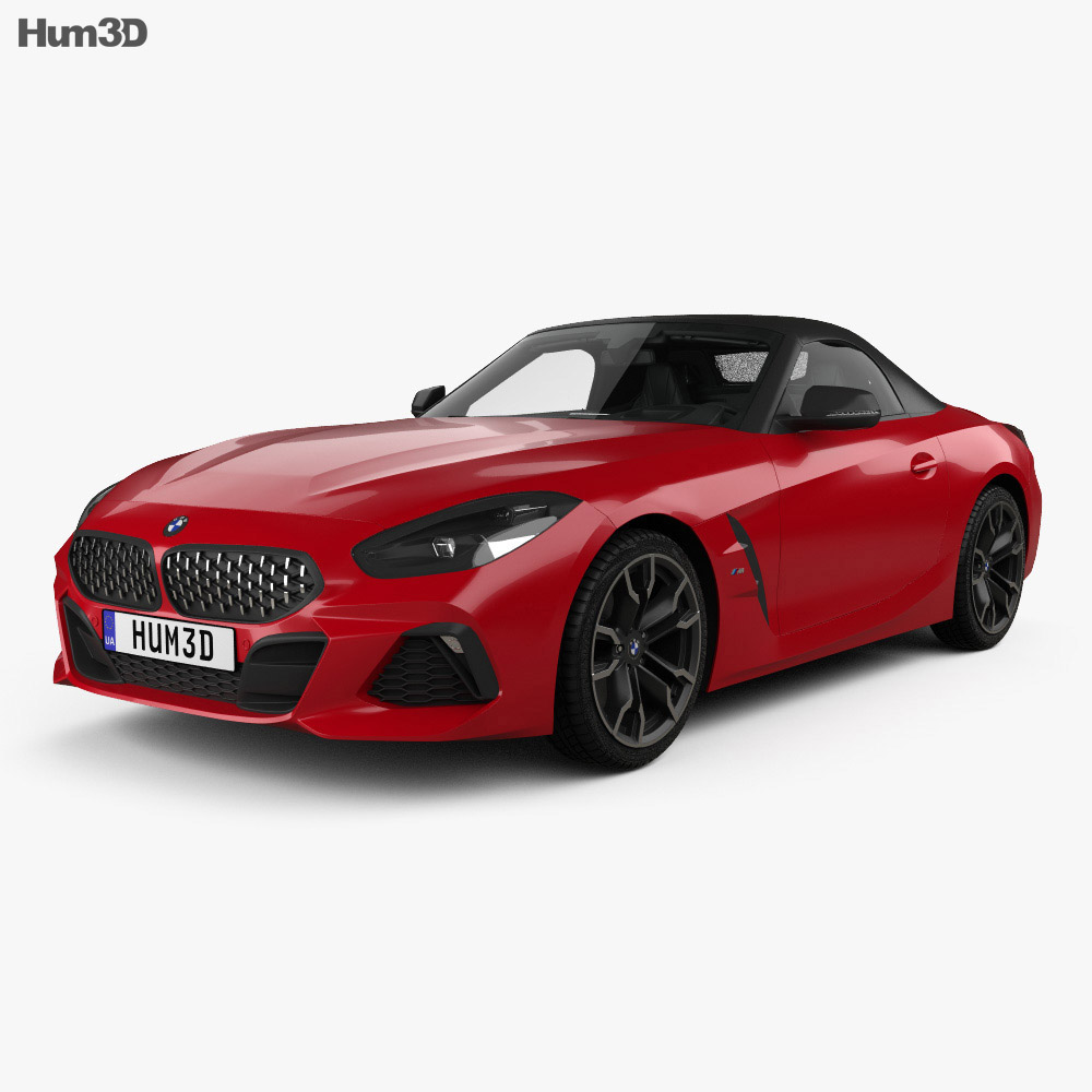 BMW Z4 M40i First Edition roadster with HQ interior 2019 3d model