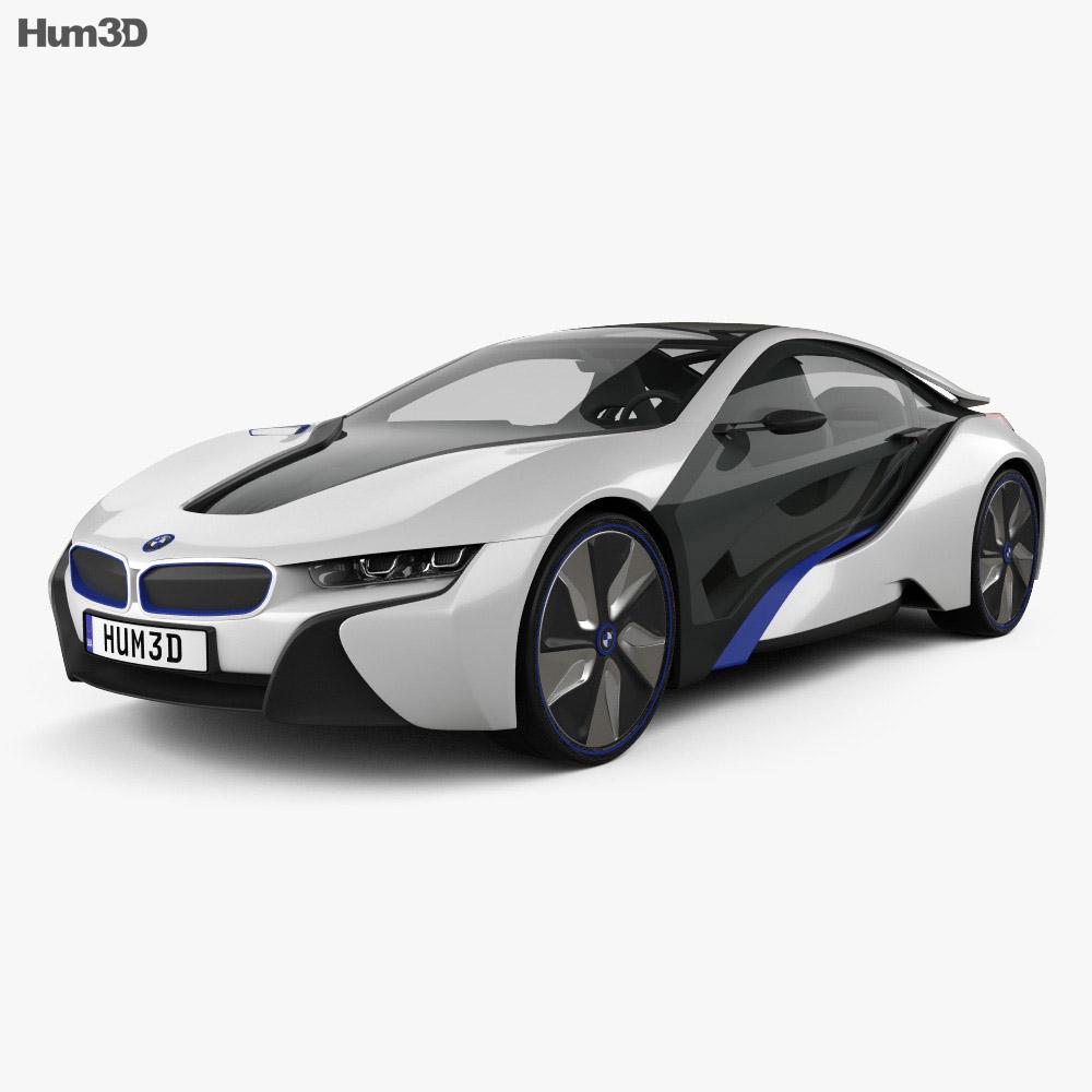Bmw I8: BMW I8 Concept 2013 3D Model