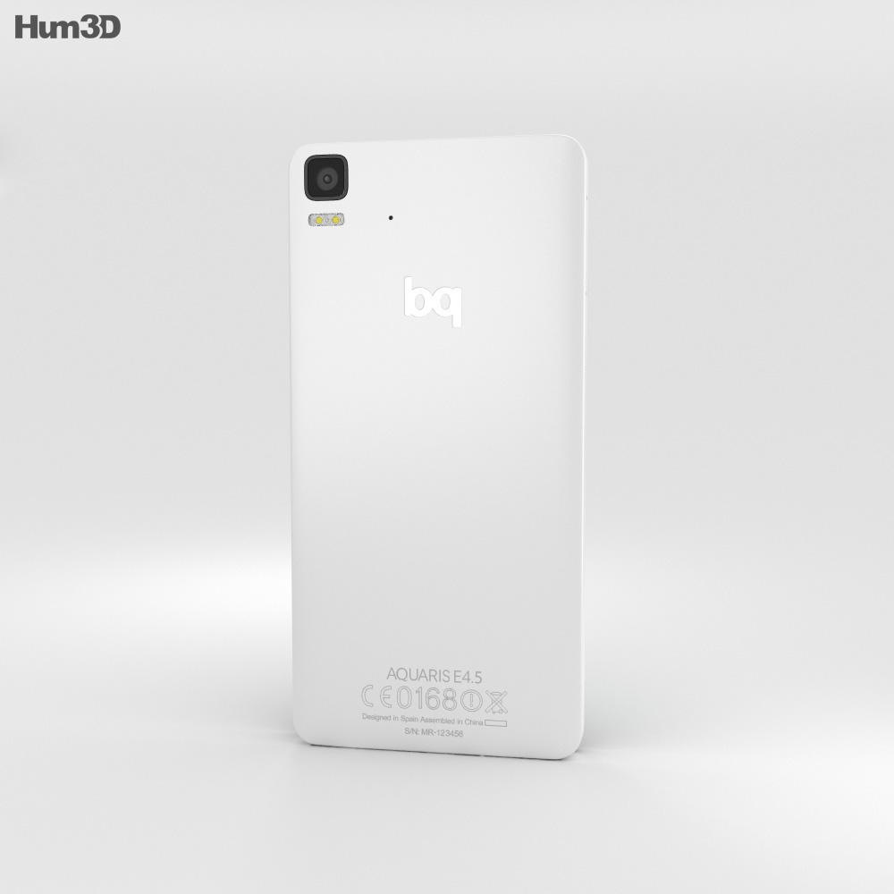 BQ Aquaris E4.5 White 3d model