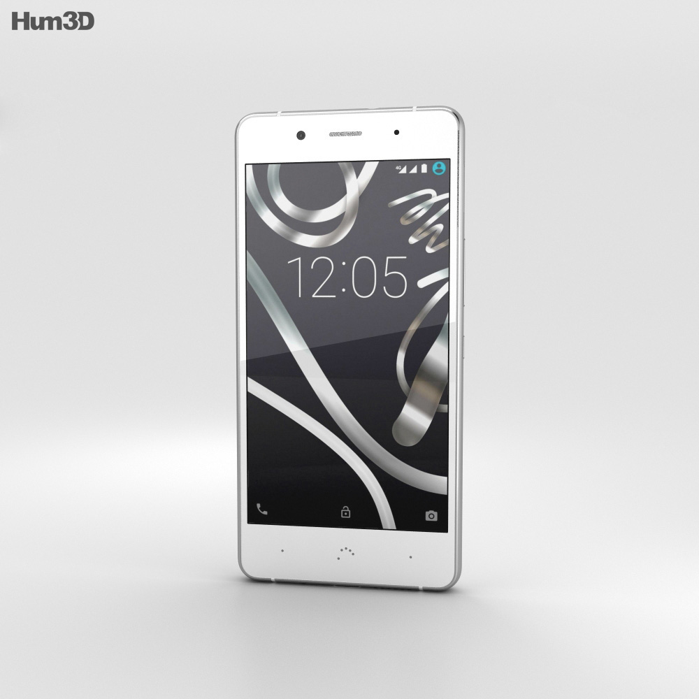BQ Aquaris X5 Plus White 3d model
