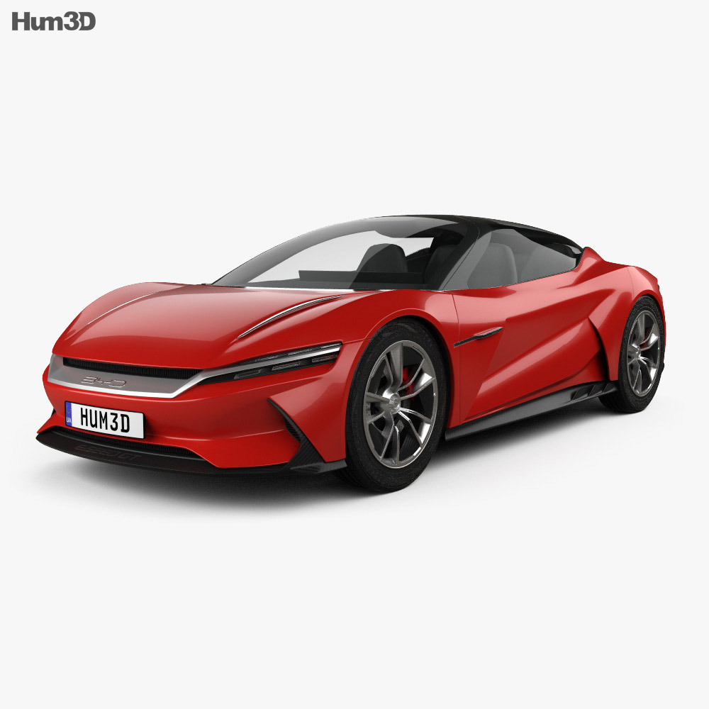 BYD e-SEED GT 2019 3d model