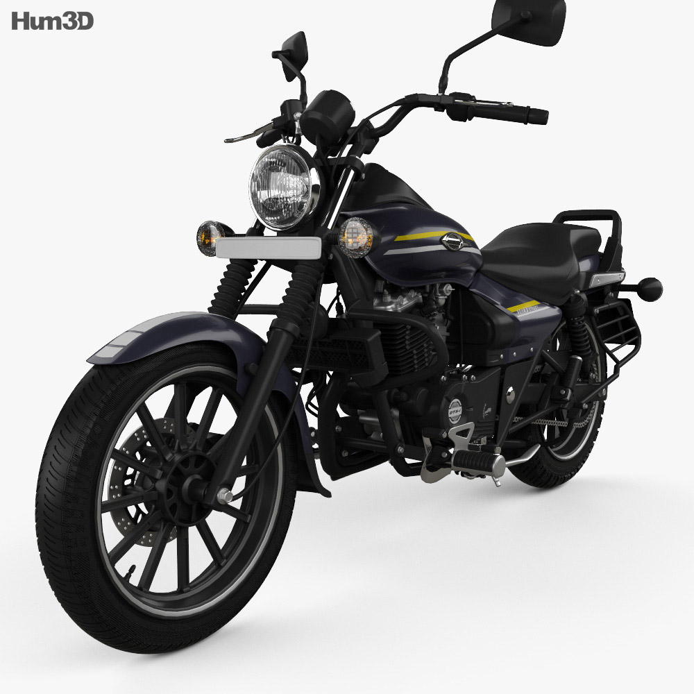 Bajaj Avenger Street 150 2015 3d model