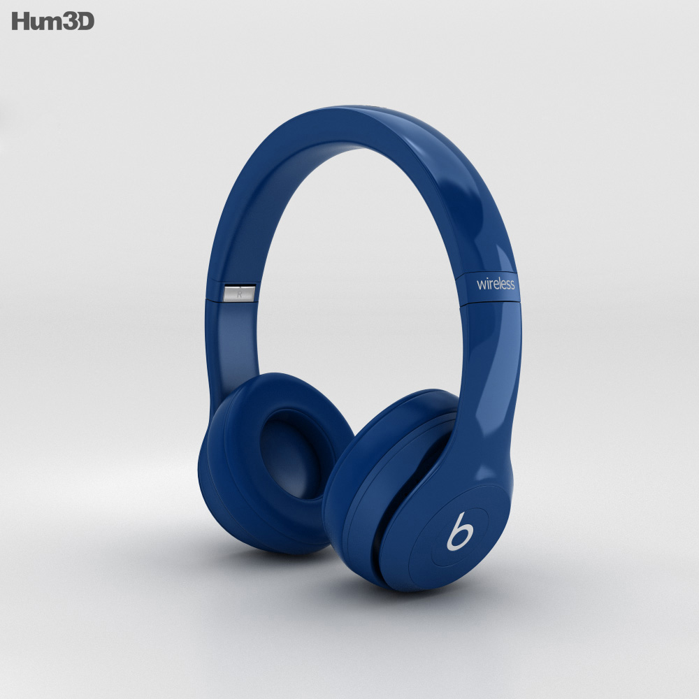 Beats by Dr. Dre Solo2 Wireless Headphones Blue 3d model