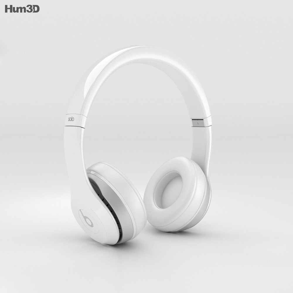 Beats By Dr Dre Solo2 Wireless Headphones White 3d Model Electronics On Hum3d