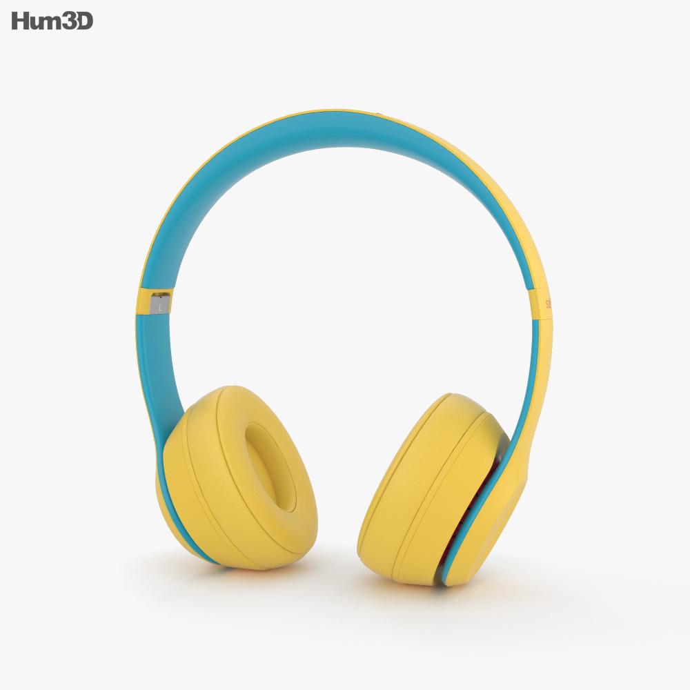 Beats Solo 3 Wireless Yellow 3d model