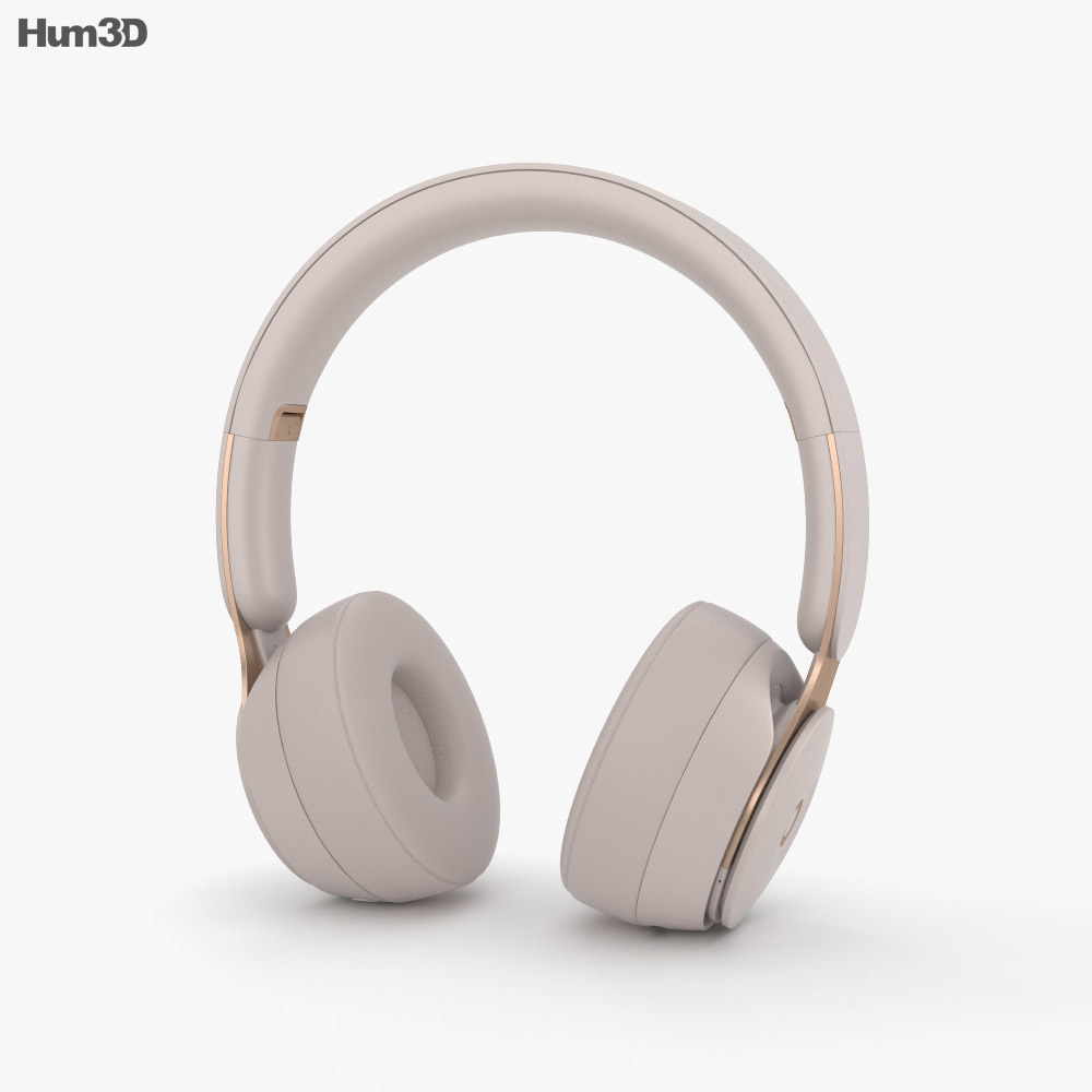 Beats Solo Pro Gray 3d model