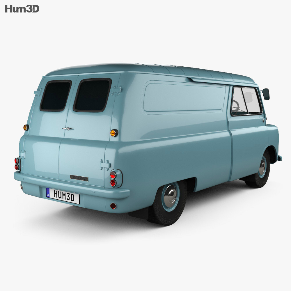 Bedford CA Panel Van 1965 3d model