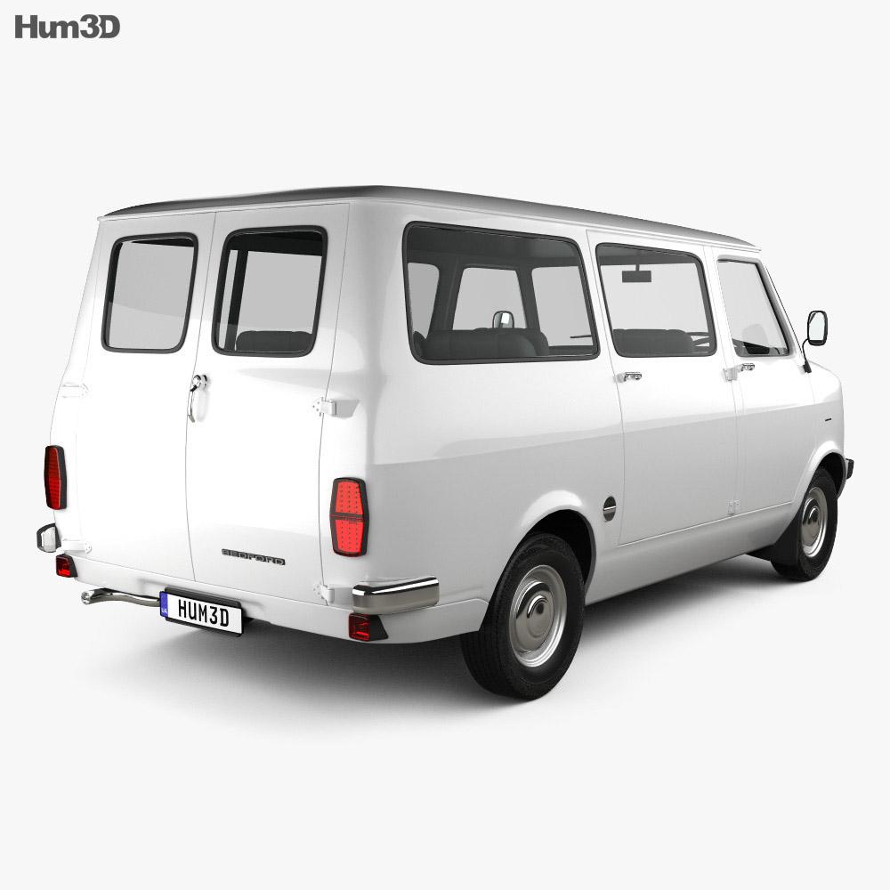 Bedford CF Minibus 1969-1979 3d model