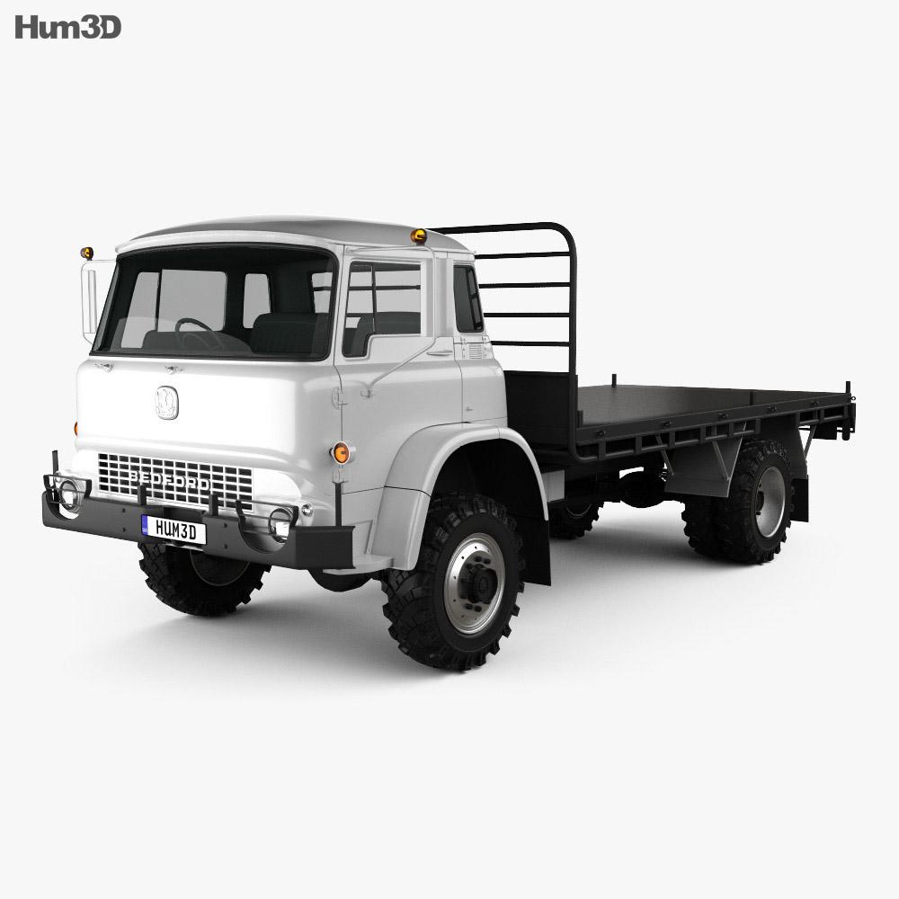 Bedford MK Flatbed Truck 1972 3d model