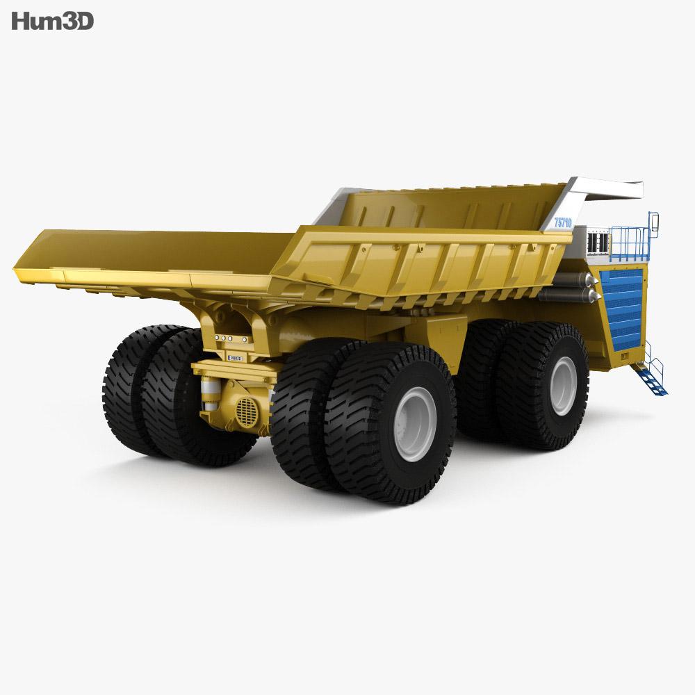 BelAZ 75710 Dump Truck 2013 3d model