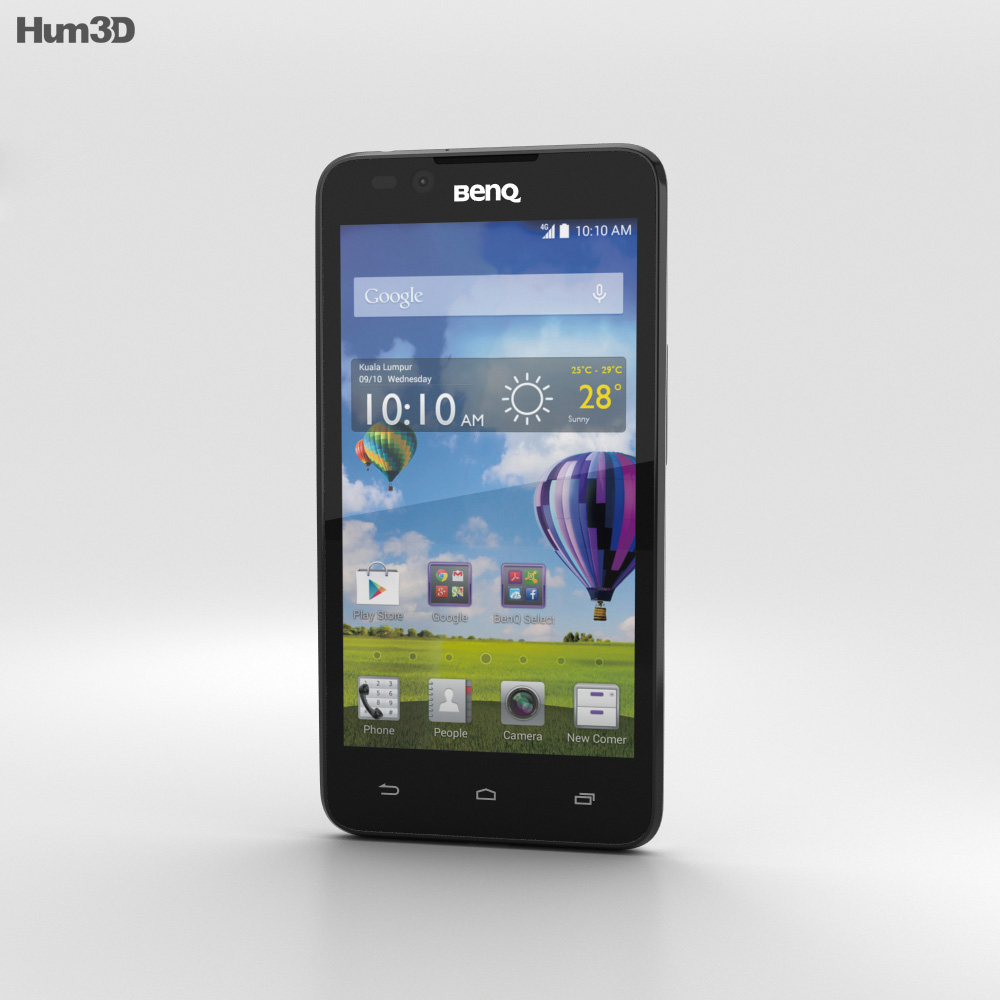 BenQ T3 White 3d model