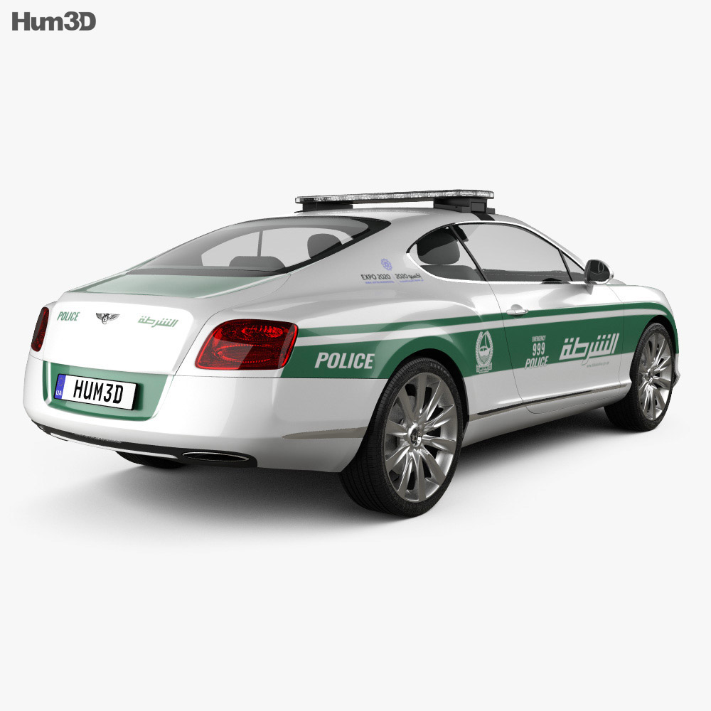 Bentley Continental GT Police Dubai 2013 3d model