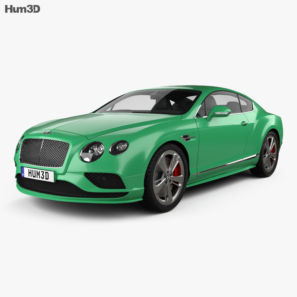 Bentley Continental GT Speed 2015 3d model