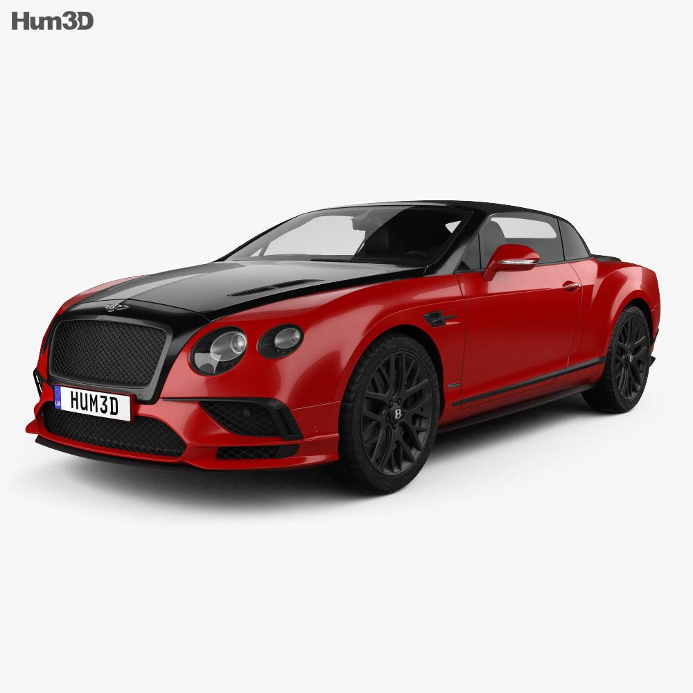 Bentley Convertible Car: Bentley Continental GT Supersports Convertible 2017 3D