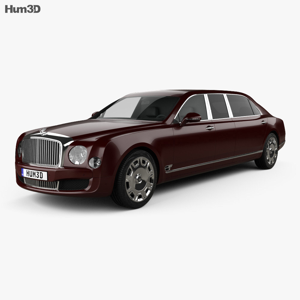 Bentley Mulsanne: Bentley Mulsanne Grand Limousine Mulliner 2017 3D Model