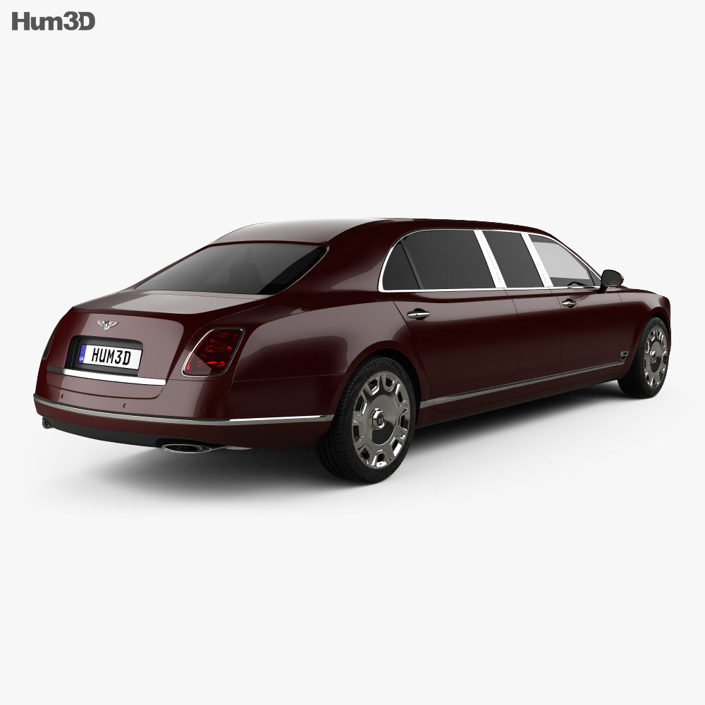 Bentley Mulsanne Grand Limousine Mulliner 2017 3d model