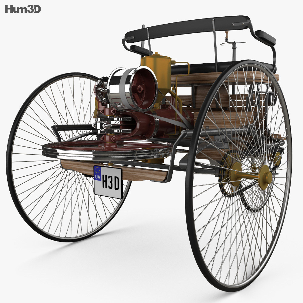 Benz Patent-Motorwagen 1885 3d model