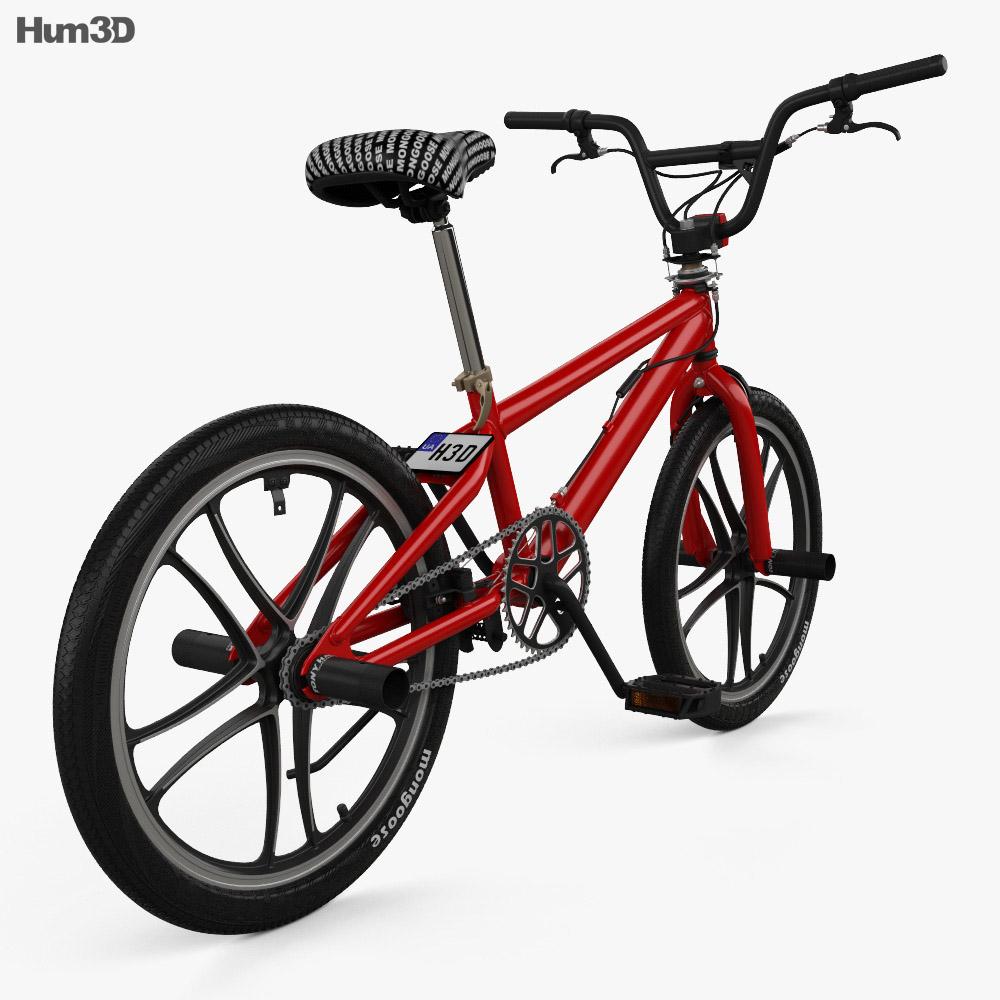 Mongoose BMX Bicycle 3d model back view