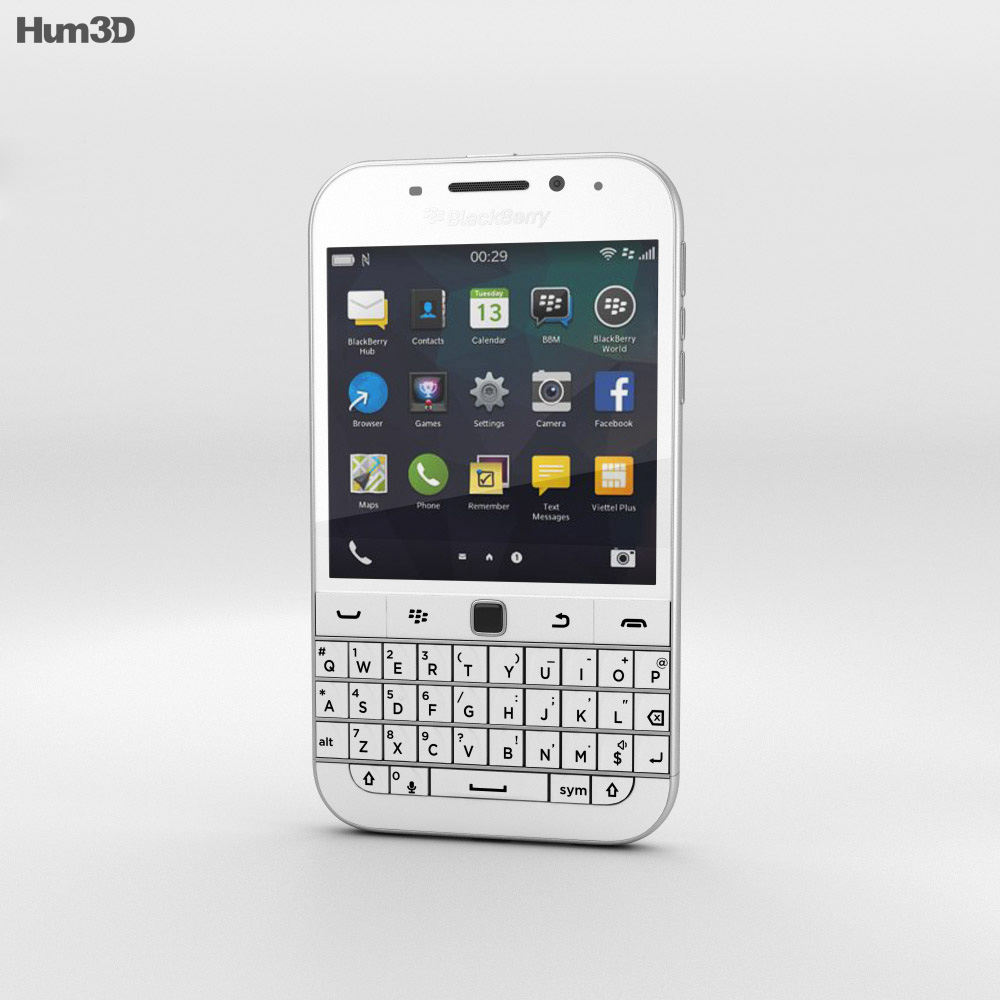 BlackBerry Classic White 3d model
