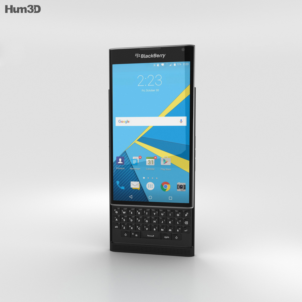 BlackBerry Priv Black 3d model