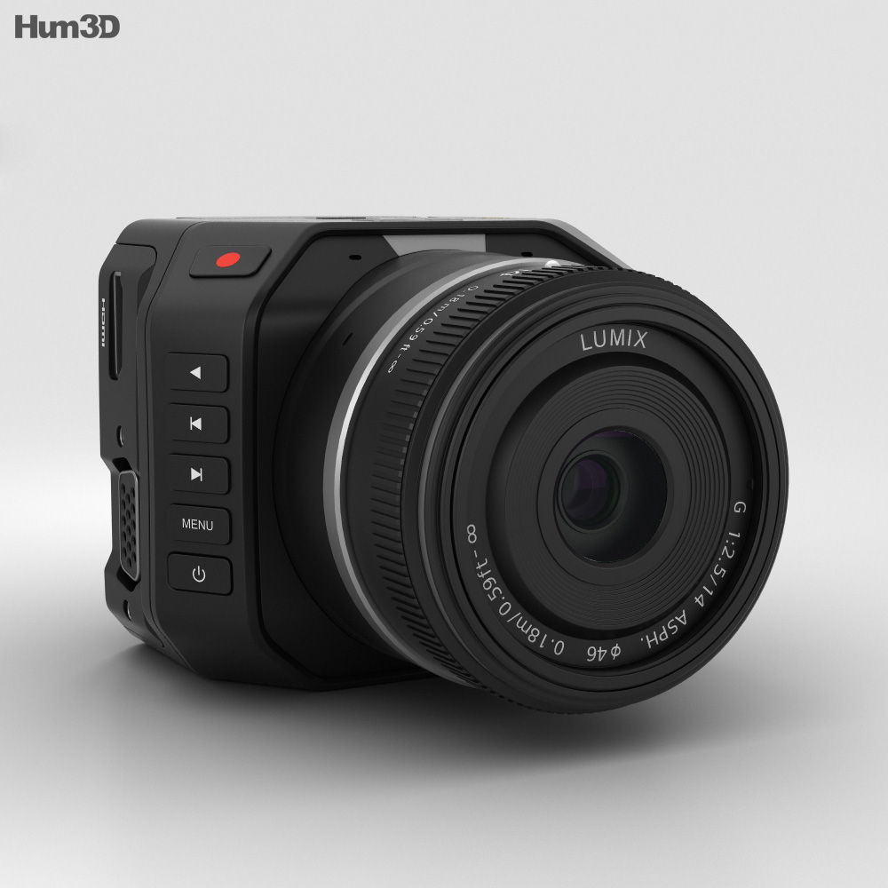 Blackmagic Micro Cinema Camera 3d model