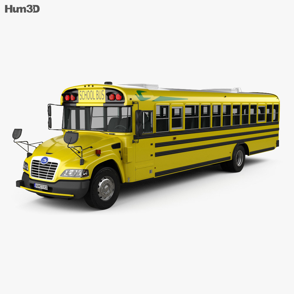 Blue Bird Vision School Bus 2015 3d model