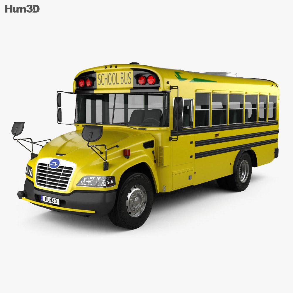 Blue Bird Vision School Bus L1 2015 3d model