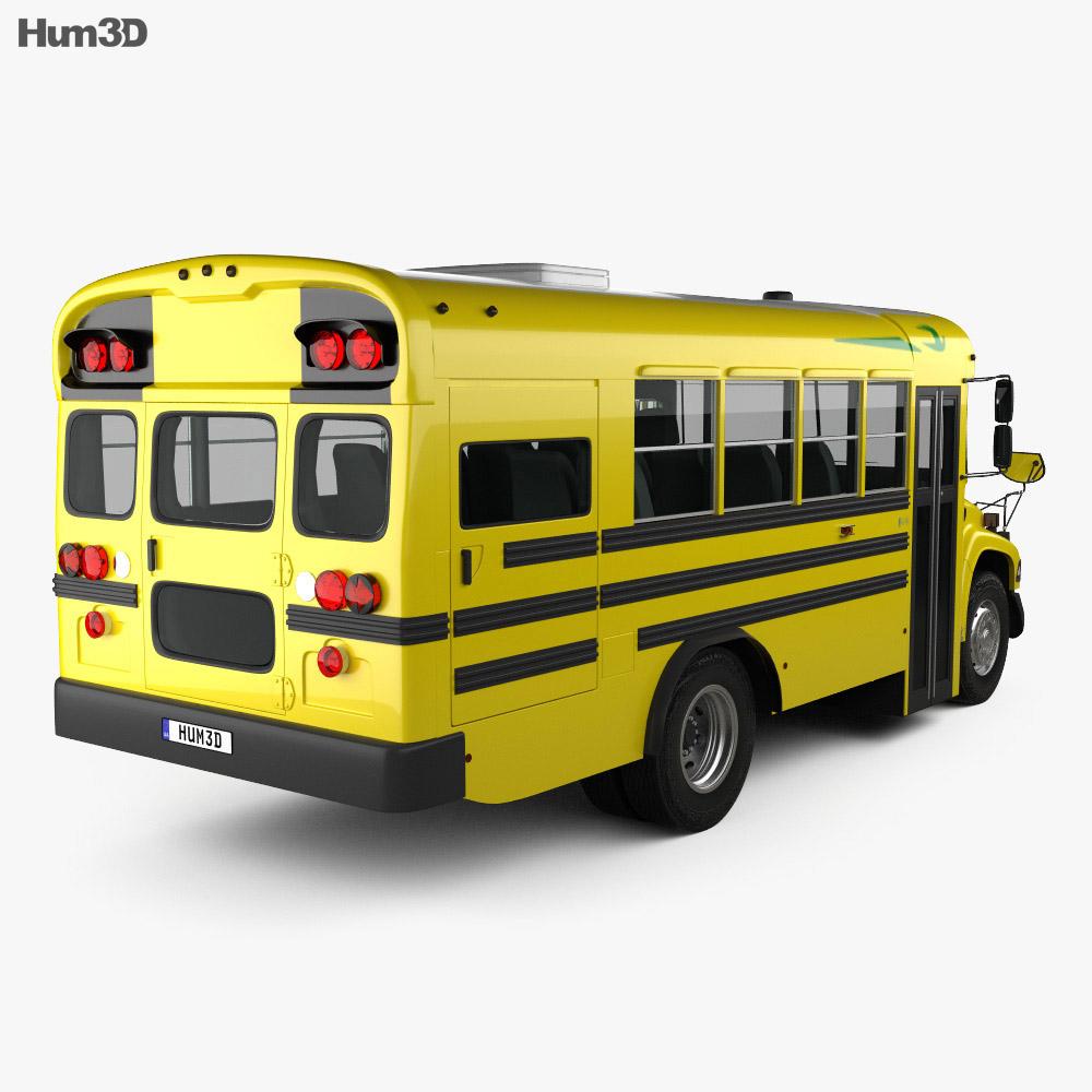 Blue Bird Vision School Bus L1 2015 3d model back view