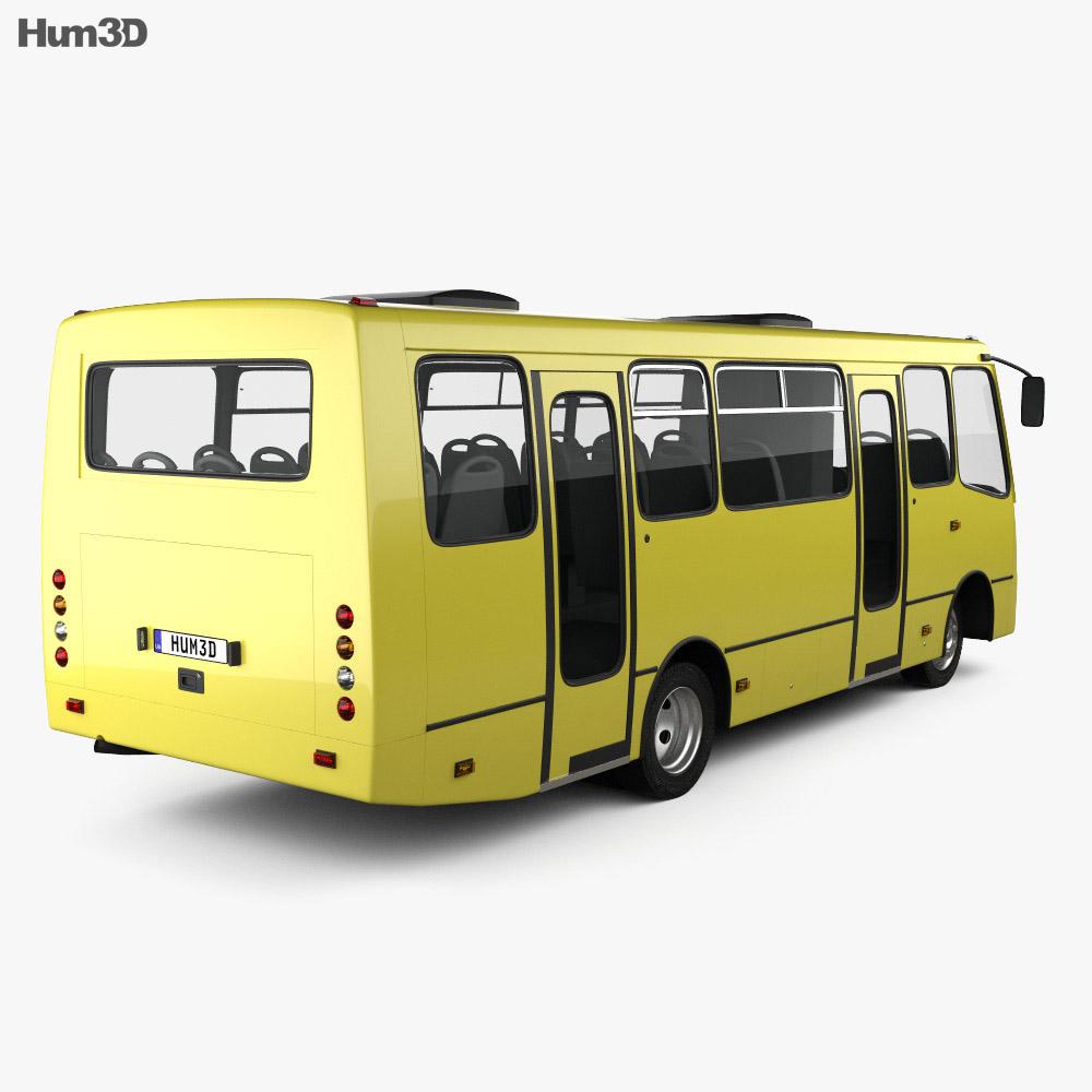 Bogdan A09202 Bus 2003 3d model back view
